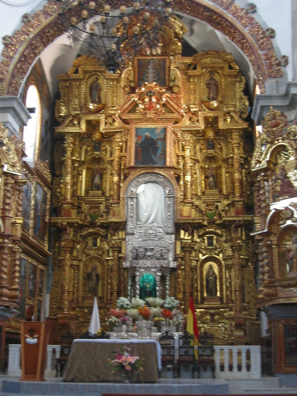 Ornate altar in the Basilica