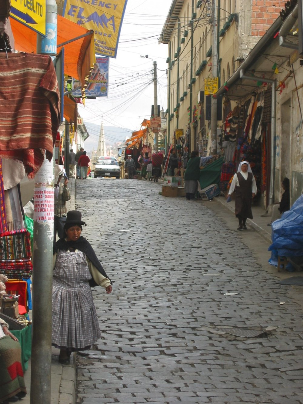 Cobble-stone streets of LaPaz