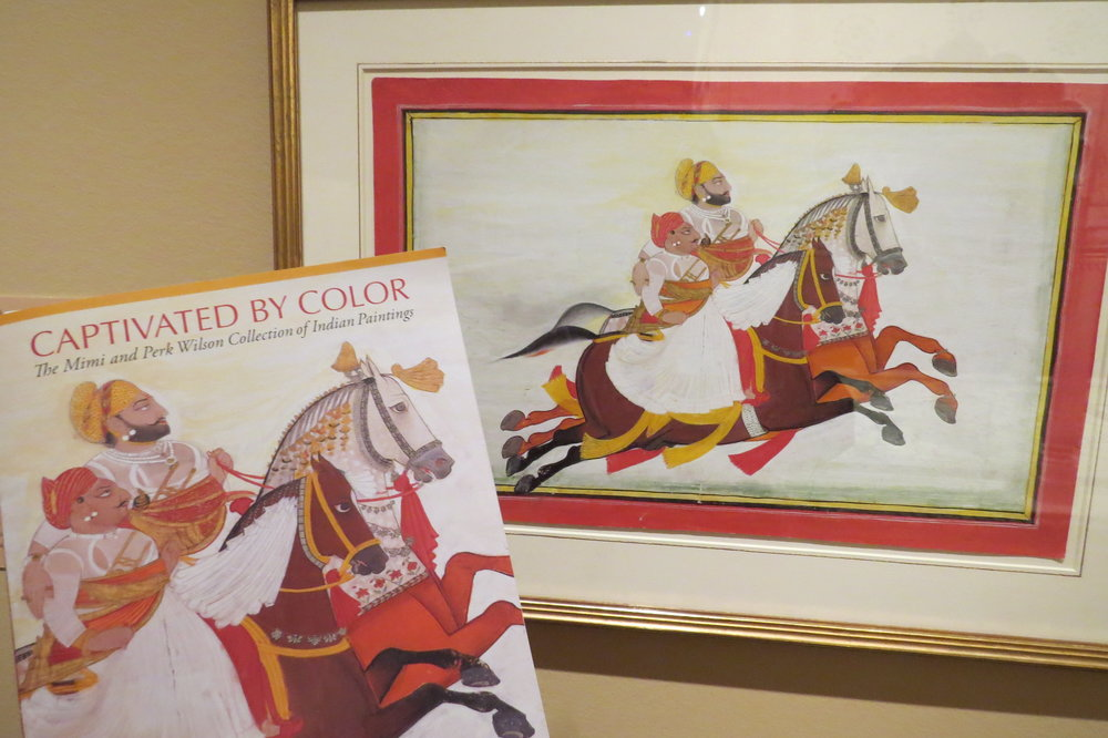 The Indian art was vibrant. Above, The Horse Race of Rawat Gokul Das and Gyan Singh by Bagta c. 1811 .Opaque watercolor on paper