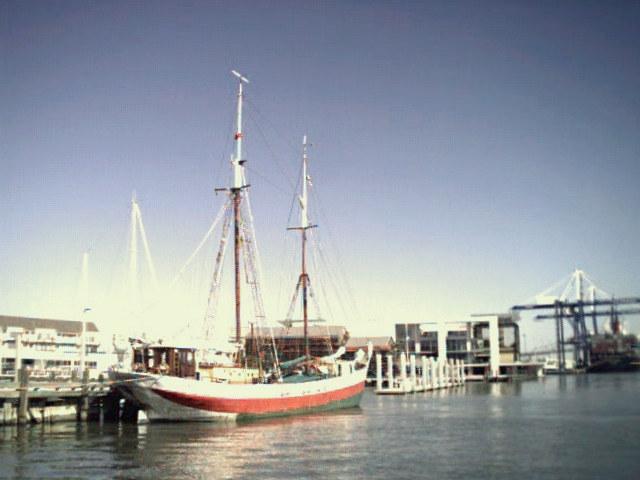 Canadian freighter schooner  Aventuur  at Charleston Maritime Center, SC