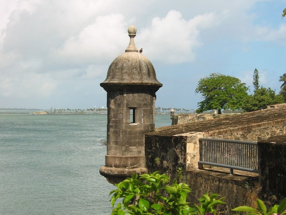"Iconic sentry box or ""garita"", San Juan, Puerto Rico"