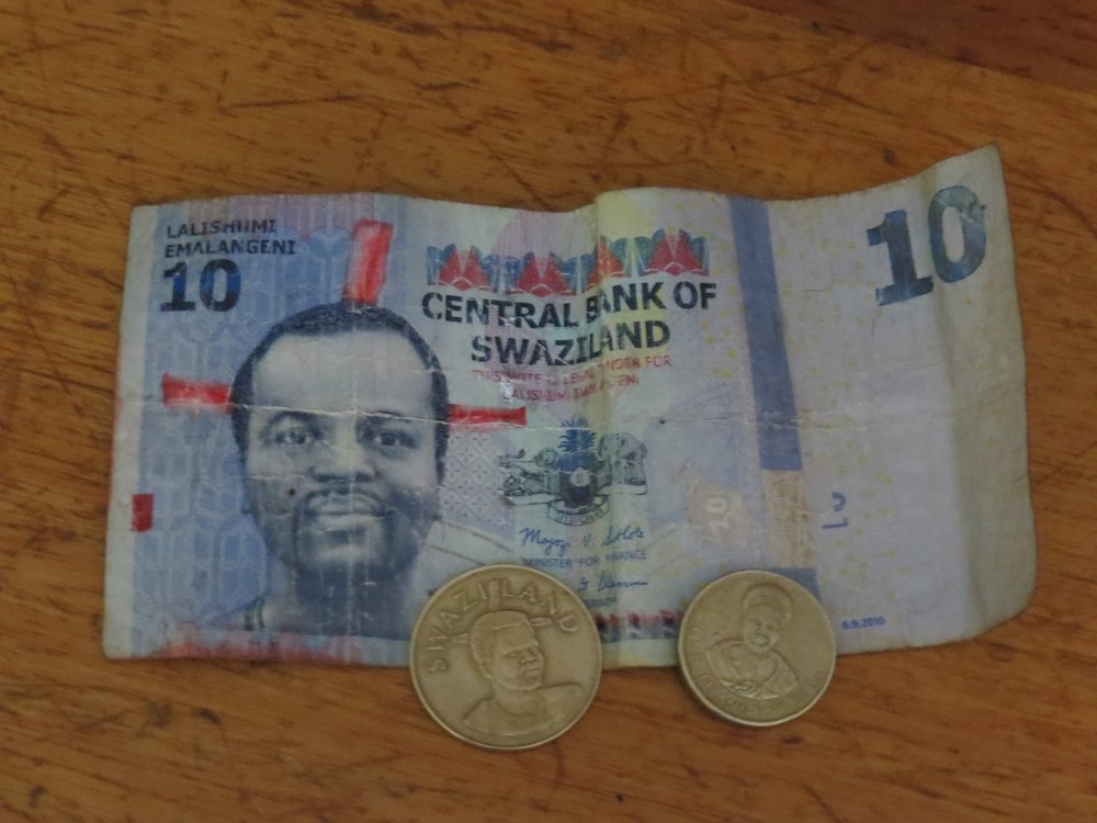 The currency in Swaziland is the lilangeni … the plural is emanlangeni (E). -