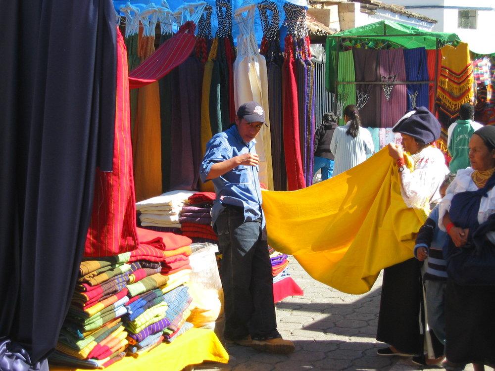 Colorful Otavalo market
