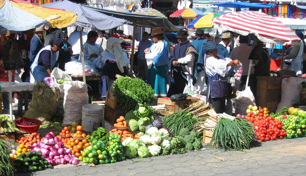 Otavalo market, centuries' long tradition