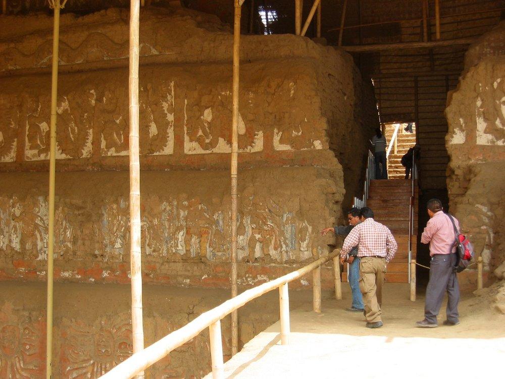 Archeological dig - Huaca de la Luna, Peru
