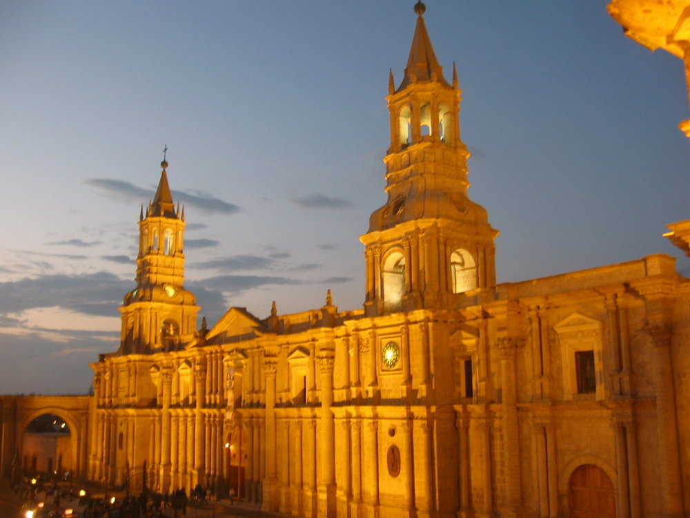 Cathedral in picturesque Arequipa, Peru