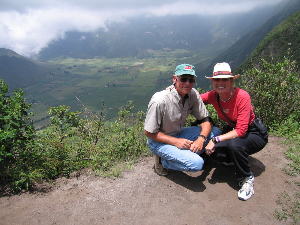Atop Huayna Picchu-waiting for the mist to lift