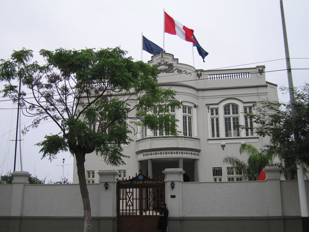 Beautiful and most hospitable Yacht Club Peruano in La Punta, Peru