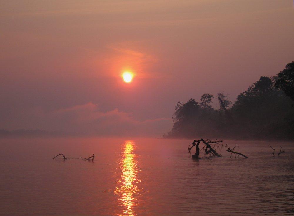 Sunrise on the Amazon