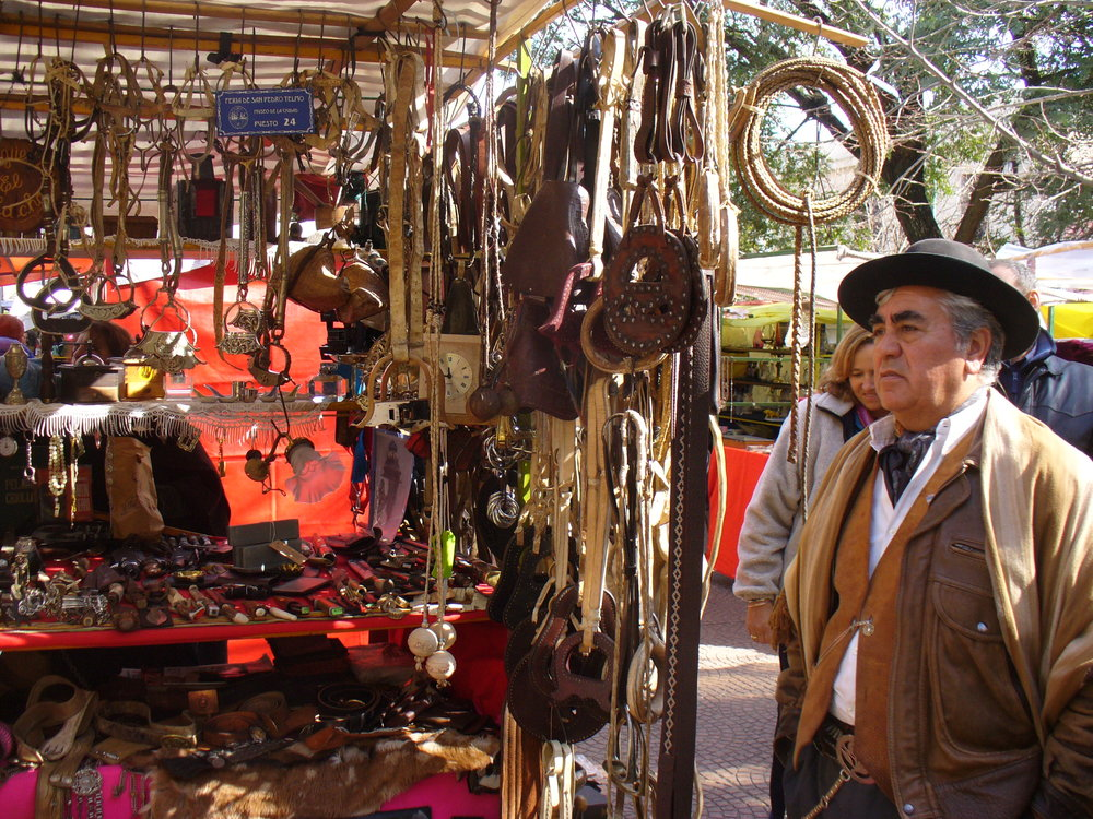 Gaucho gear for sale at a  Buenos Aires market