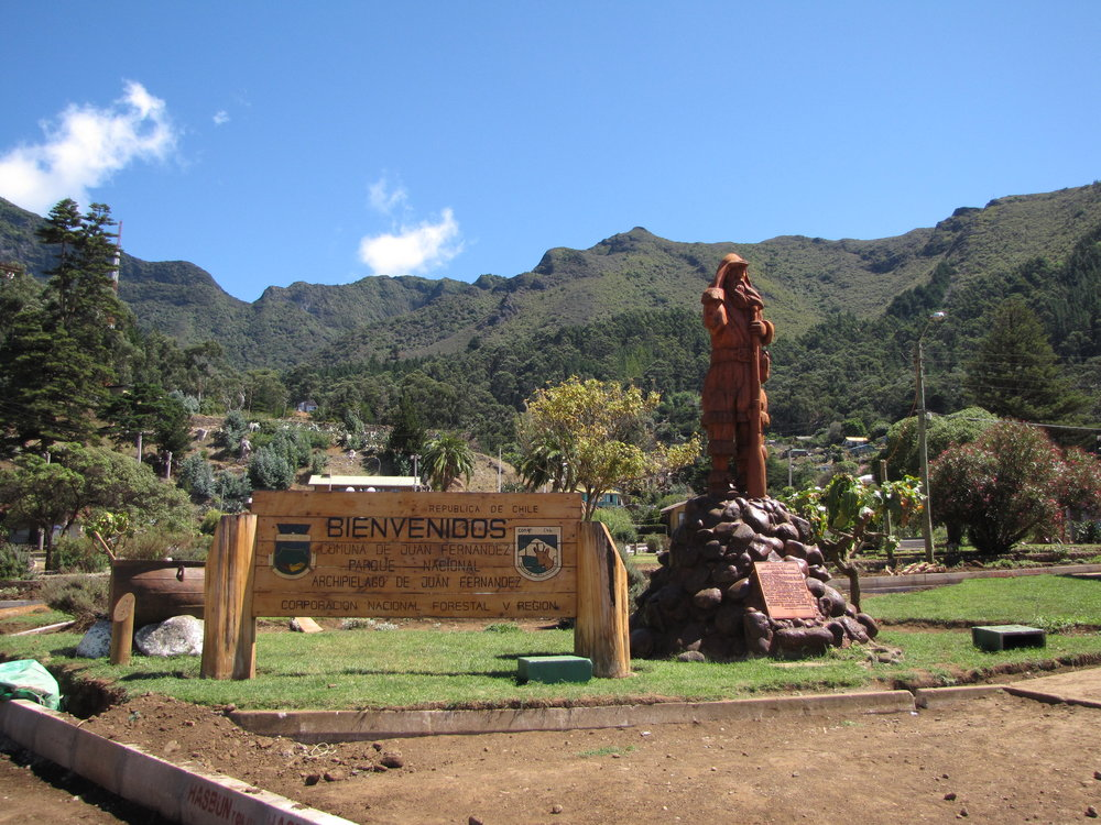 Selkirk's statue greeted us in San Juan Batista