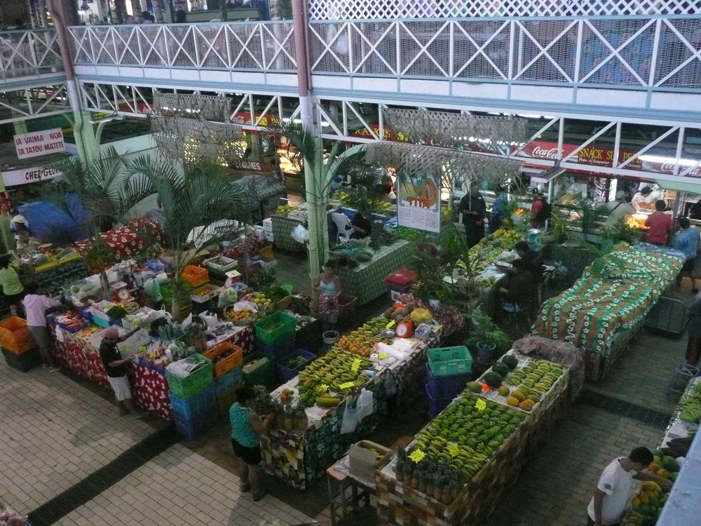 Pape'ete's morning market bustled