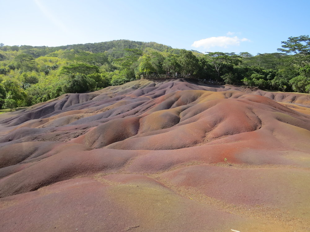 "The ""Earth of Seven Colors"" at Chamarel"