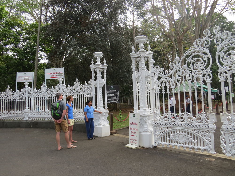 Ornate entrance gate to the Botanic Gardens