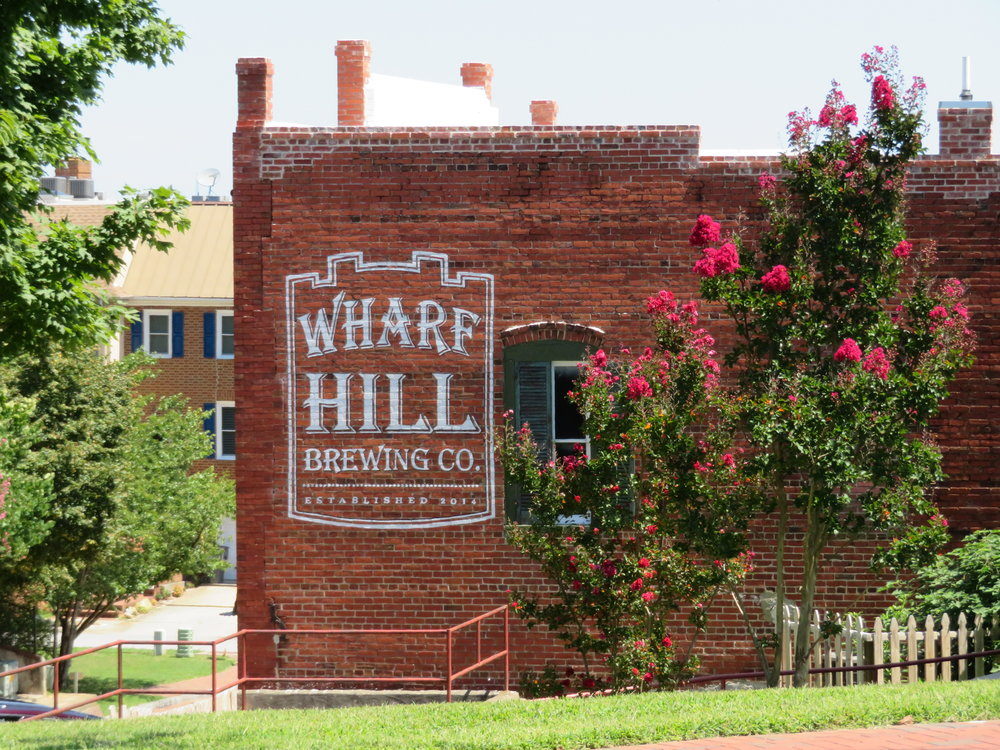 We bellied up to the bar at the Wharf Hill Brewing Company - local beer & great food