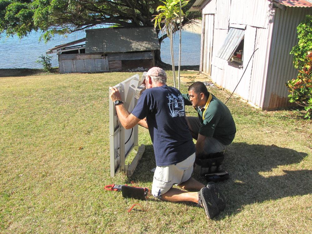 Repairing solar panels