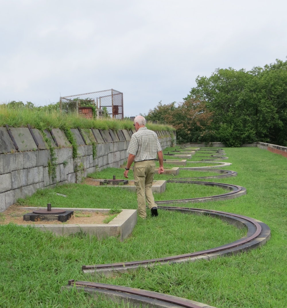 We noted the remnants of gun emplacements as walked the ramparts of Fort Monroe.