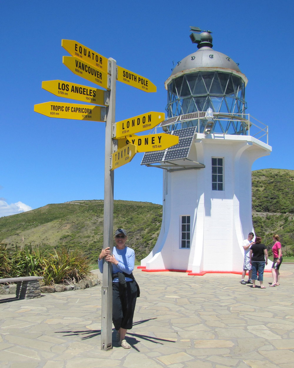 We visited Cape Reinga by land first, then sailed around it on our way south.