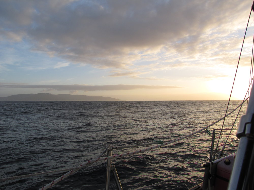 With a clear weather window, we rounded South West Cape at dawn.