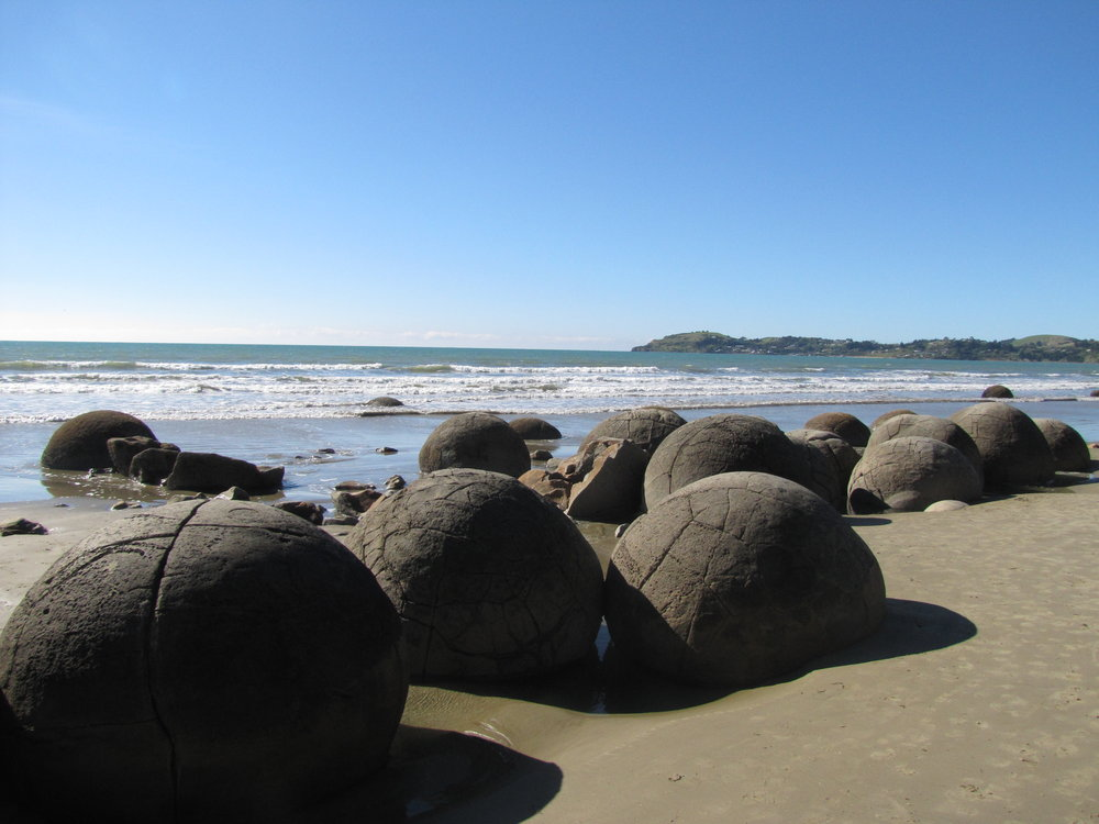 60 million year old Moeraki Boulders