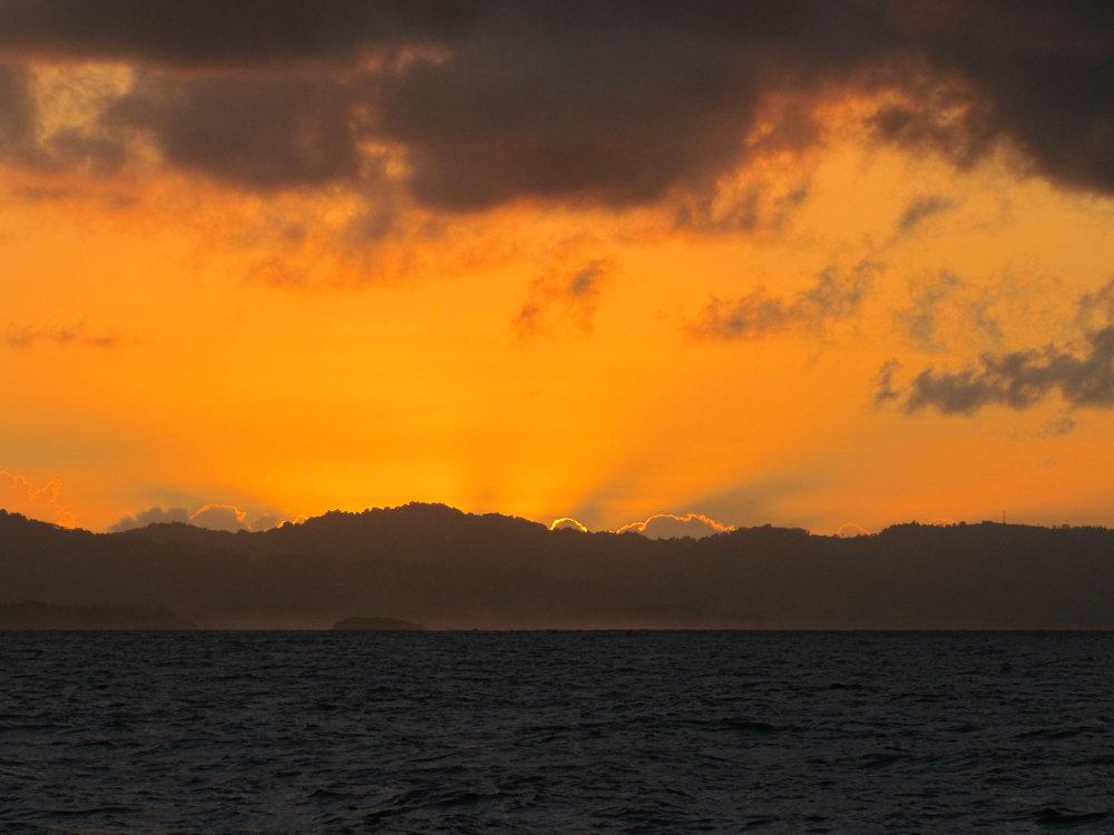 Sunrise approaching Vanua Levu, Fiji