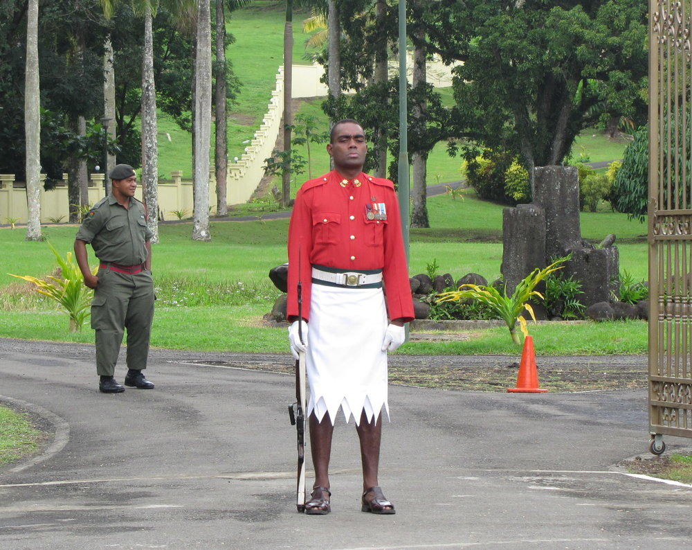 Guard at Presidential Palace
