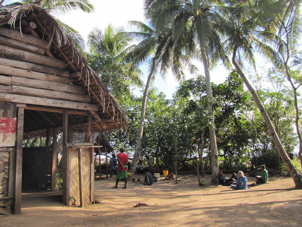 Outside the kava hut