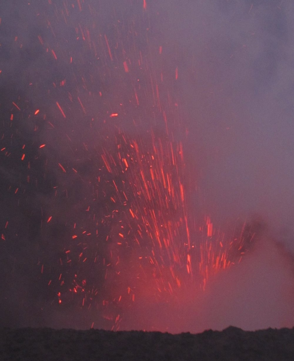A unique pyrotechnic display