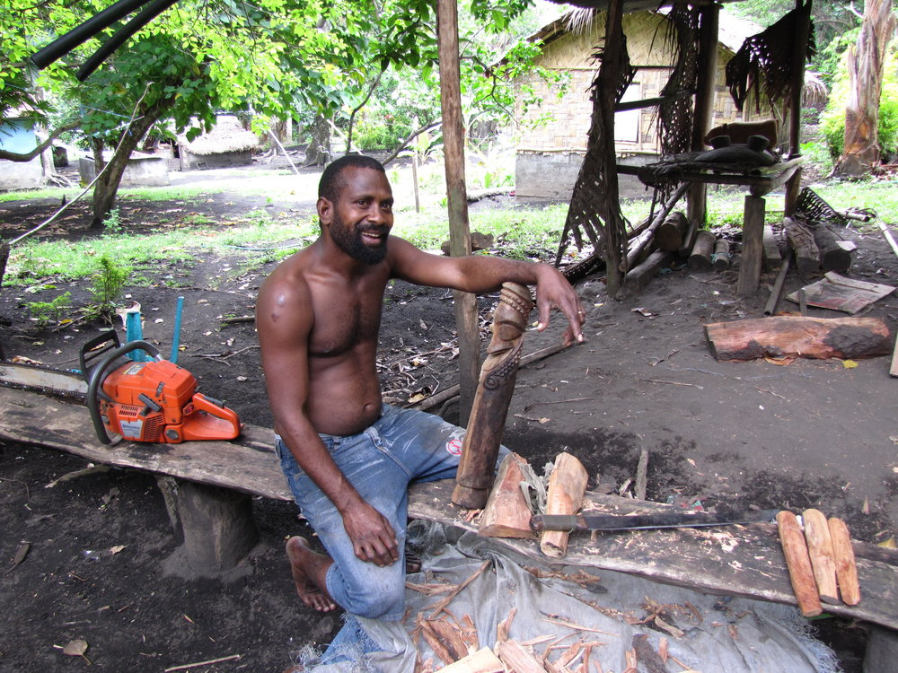 Ronnie, a carver, was our host in Ranon. We spent the afternoon with him, drinking kava and learning about his island.
