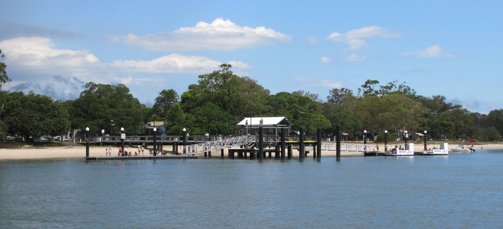 We found refuge from adverse winds and seas on our passage from Bundaberg to Sydney. Above, Bongaree Jetty