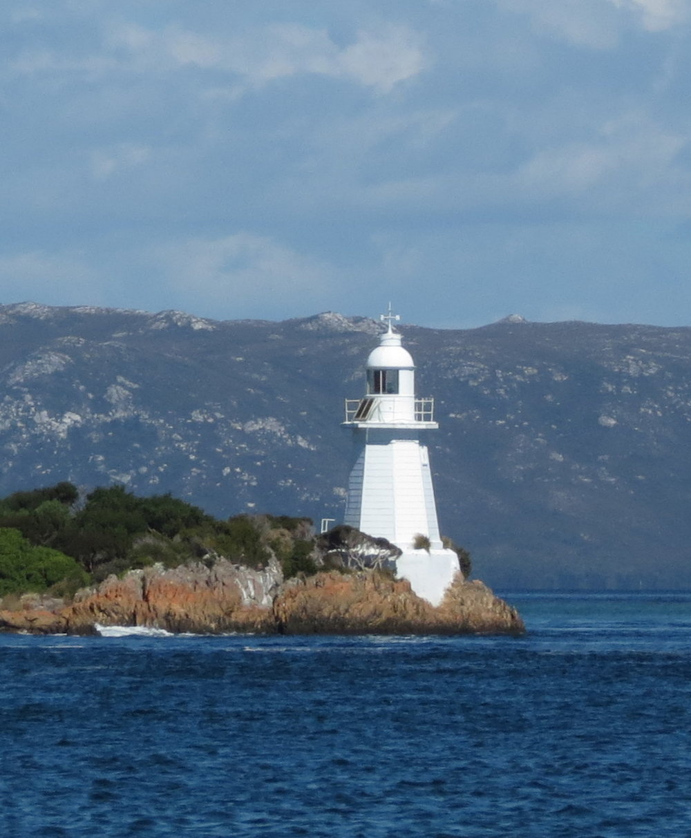 Entrance Island Light through Hell's Gate to Macquarie Harbour.