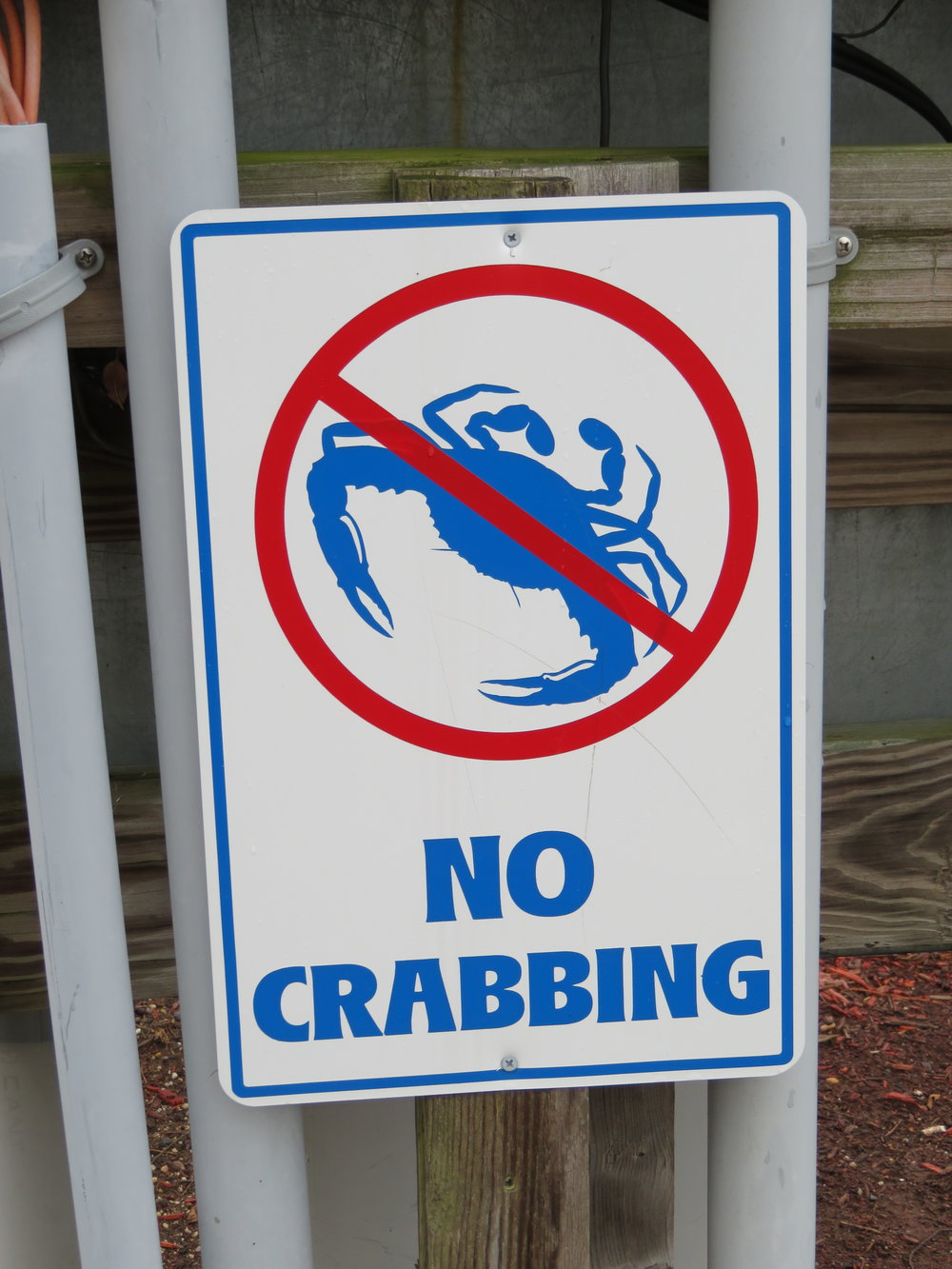 We decided both catching crabs (double entendre intended) and being a crab should be prohibited.
