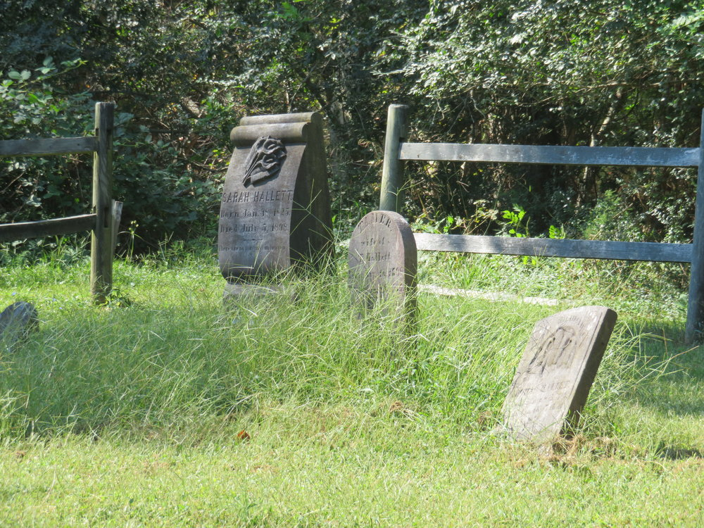 Old 19th century gravestones reminded us of the farmers who originally worked this land.