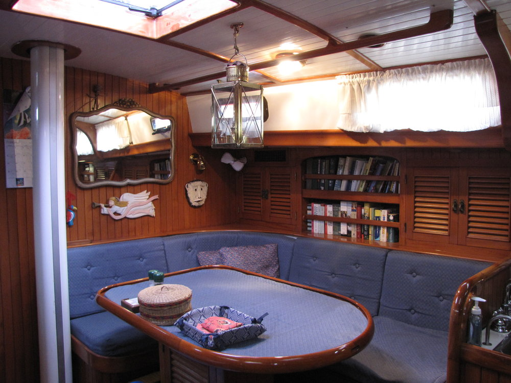Saloon, starboard view