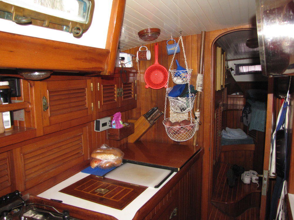 Galley view, looking aft from saloon