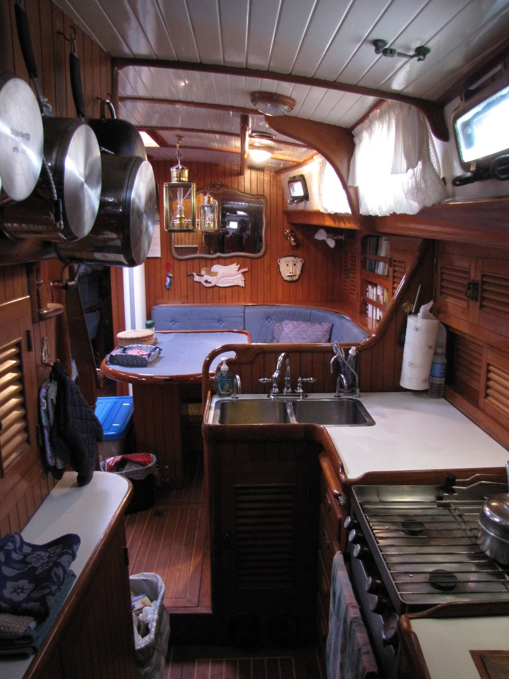 Galley view, looking forward