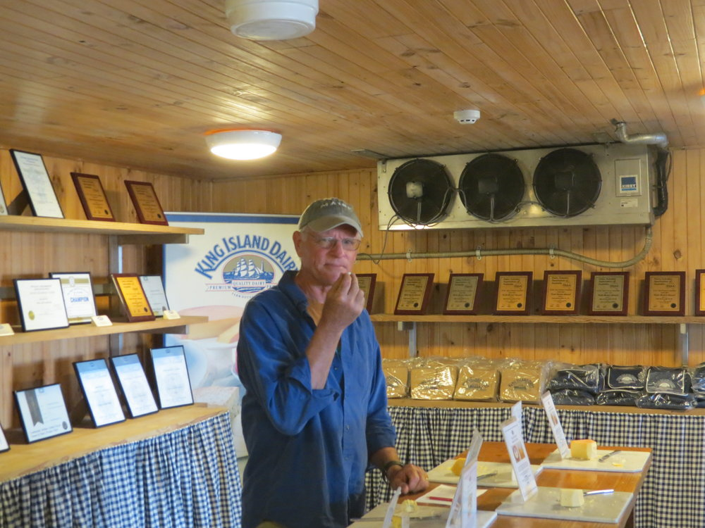King Island was an interesting visit and, yes, the cheese was outstanding.