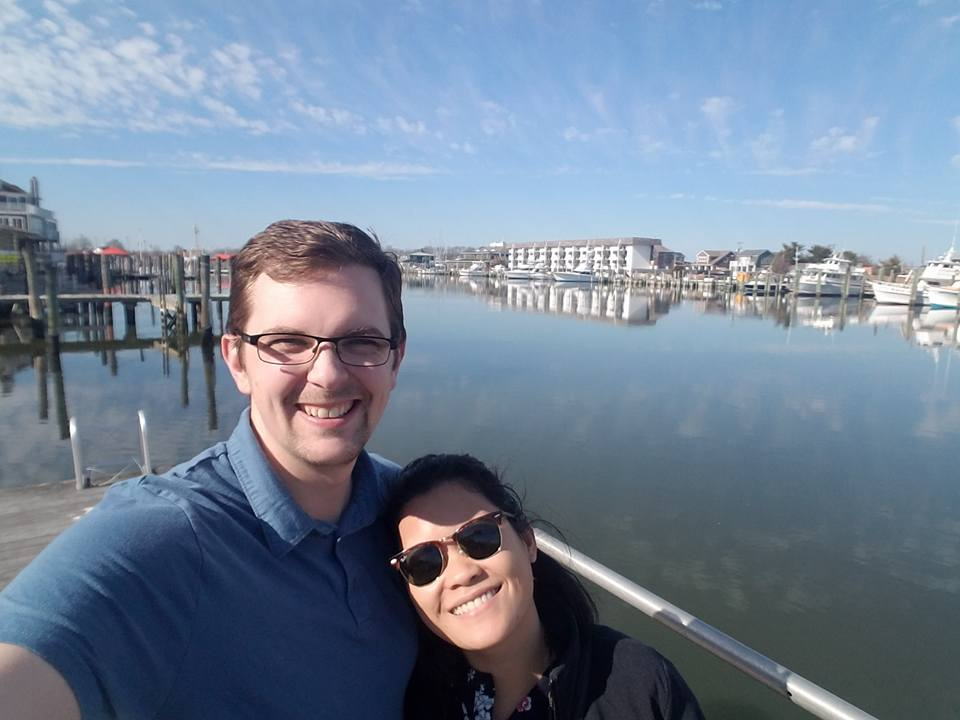 Leeann and husband, Chris, on the picturesque Lewes waterfront.
