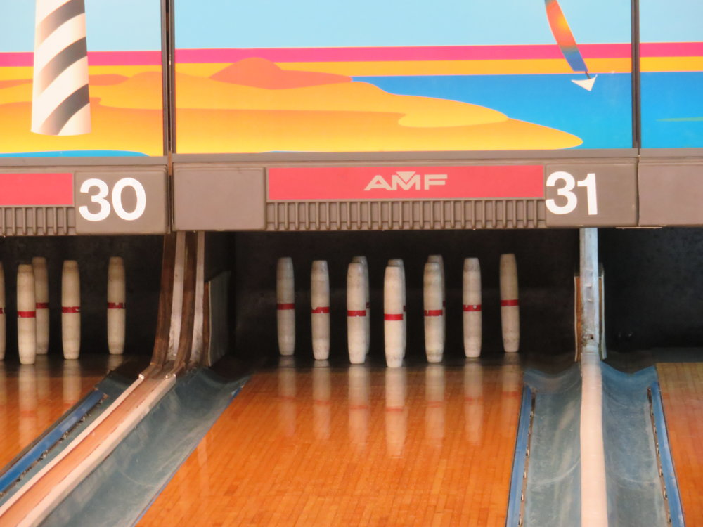 Candlepin bowling at Norwood Sport Center