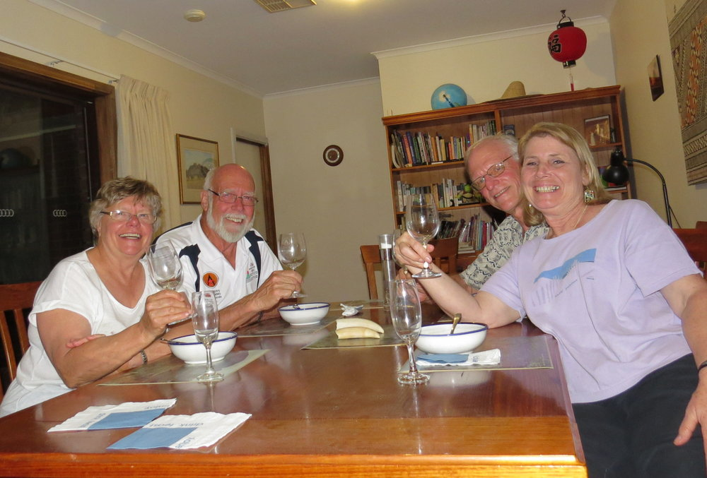 Toasting friendship with Pauline & Denys
