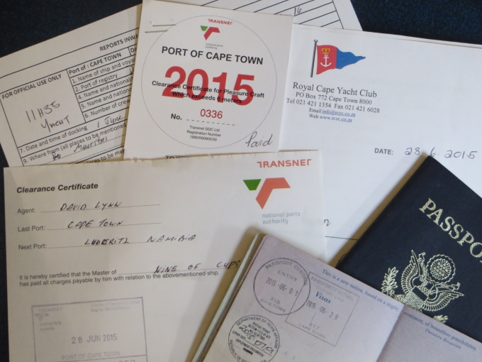 Lots of paperwork to check out of South Africa ... finally!