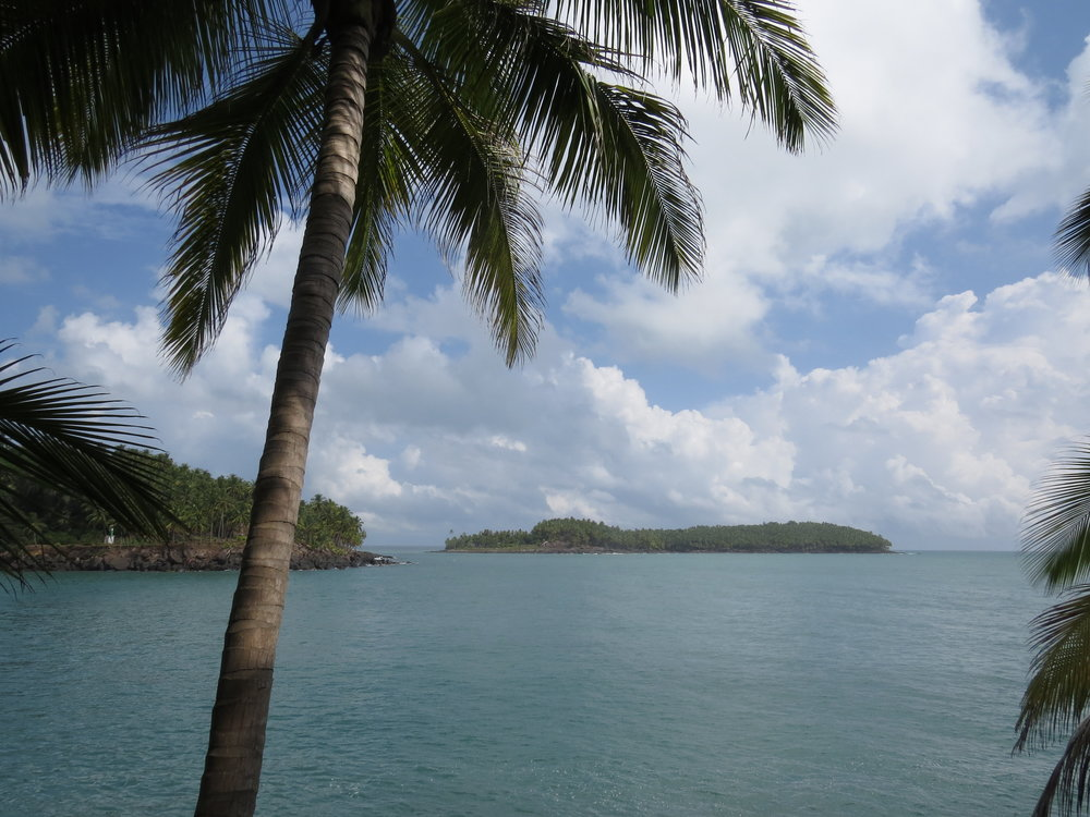 View of the infamous Devil's Island from Ile St Joseph