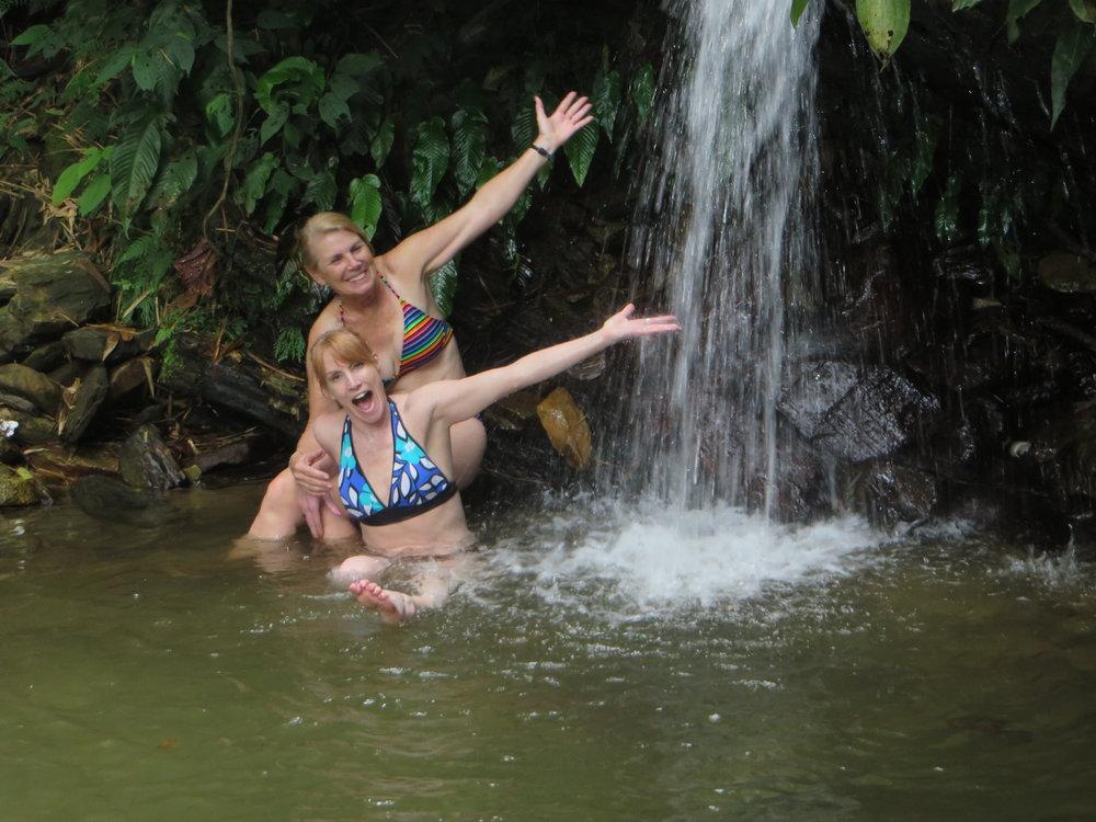 Waterfall swim at Asa Wright