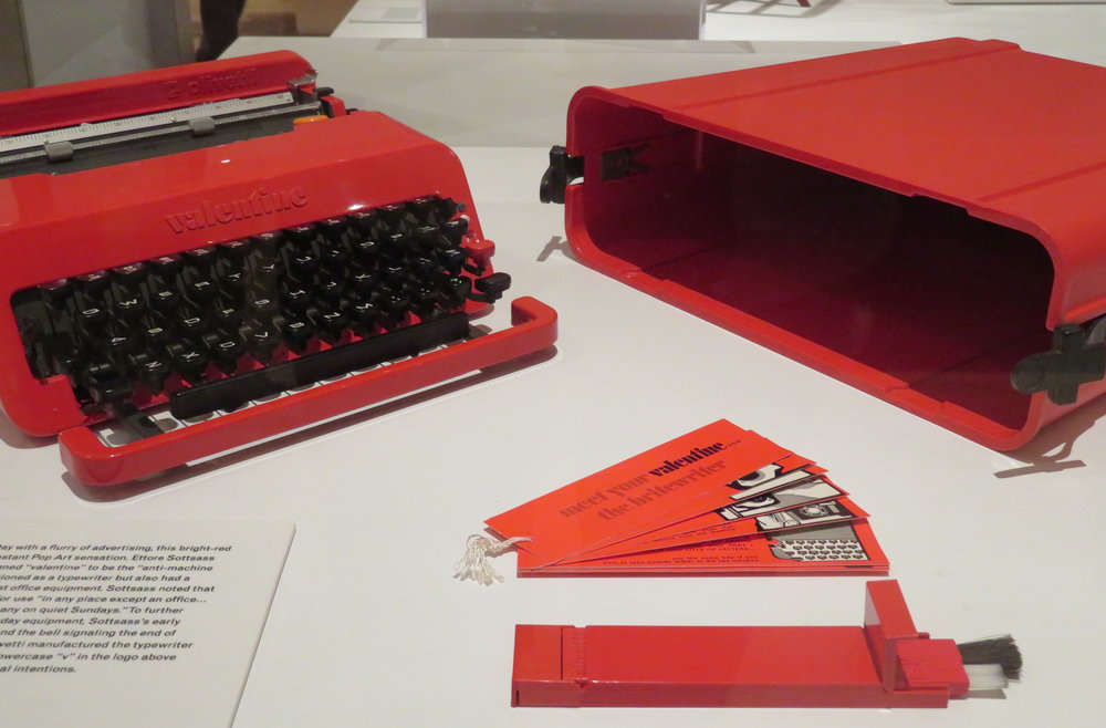 "Industrial design included this Olivetti ""Valentine"" manual typewriter - 1969"