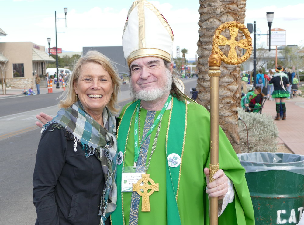 What a thrill ... a photo opp with St. Patrick!