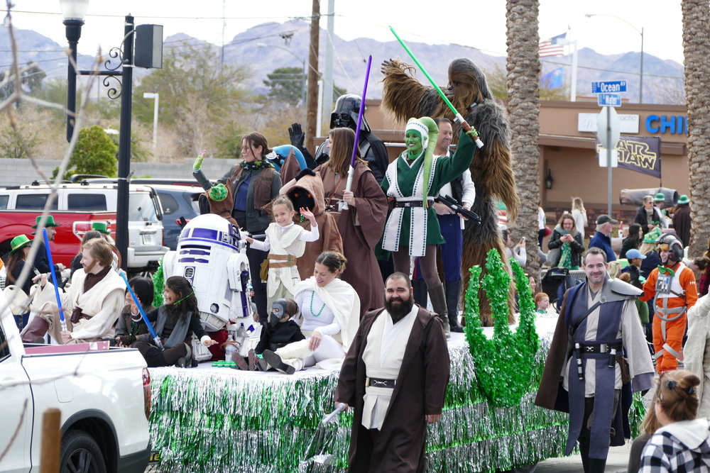 "Nothing says ""St.Patrick's Day"" like Star Wars characters!"