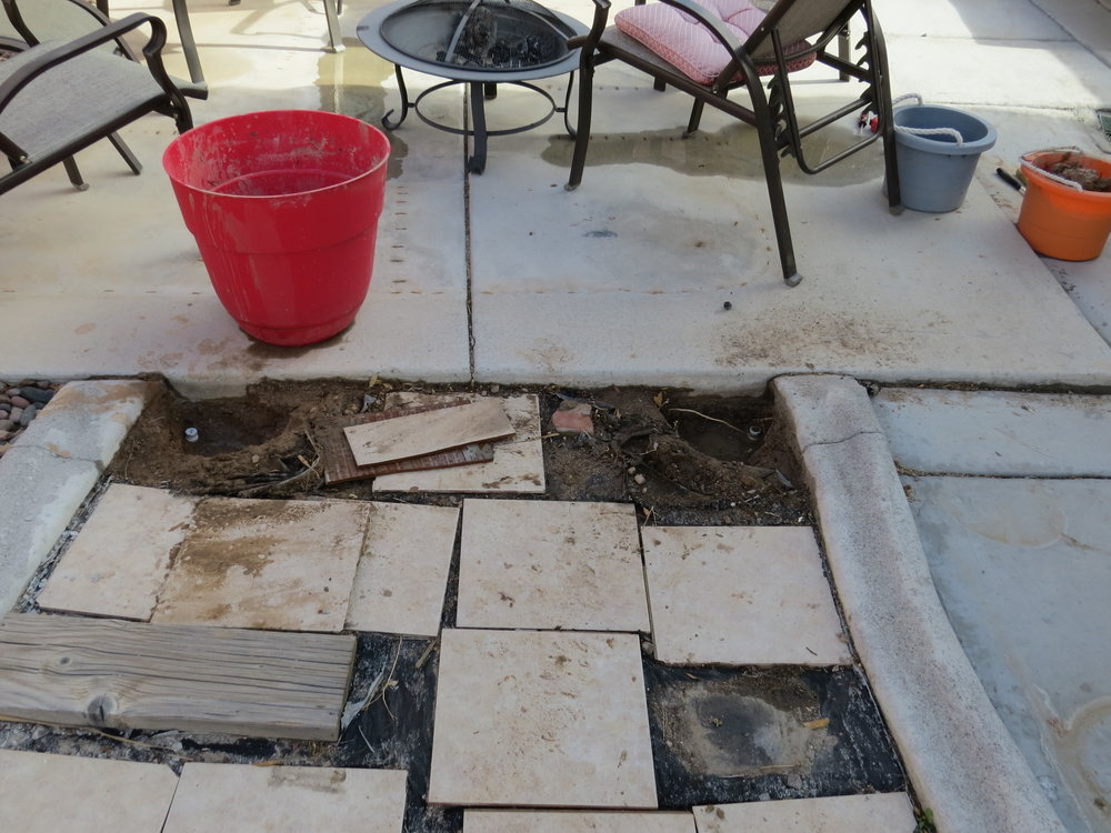 and the remaining slab. Ugh!