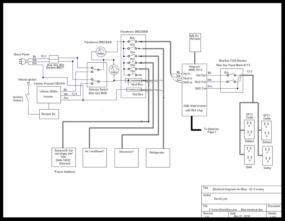 The schematic for the 120 vac system