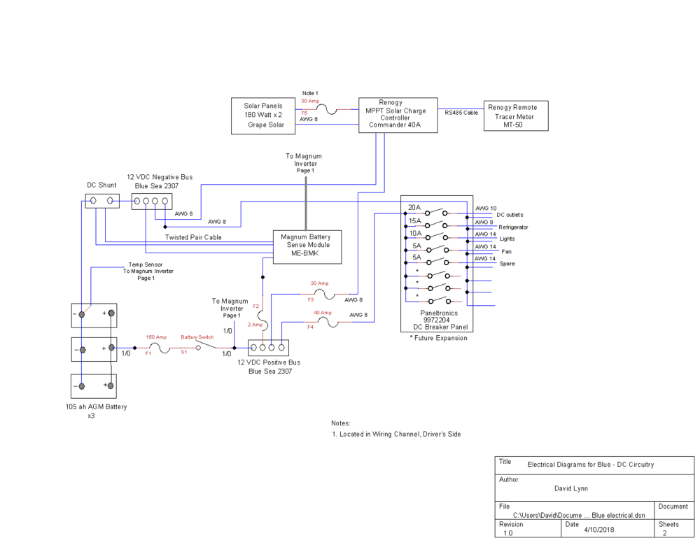 Blue's 12vdc Electrical System