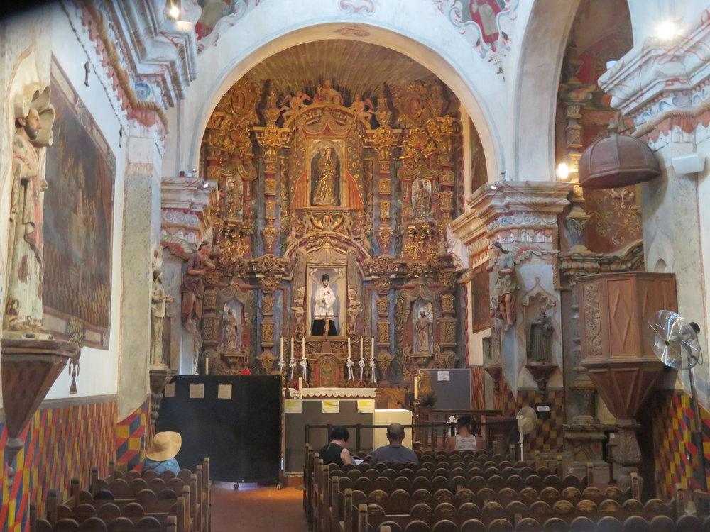 san xavier interior-altar.JPG